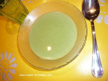 Soupe cresson, à la crème fraîche allégée