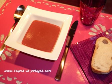 Soupe betterave et batavia